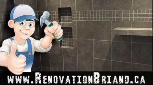 Rénovation Châteauguay Rive-Sud Résidentiel Commercial Réparation Brique Calfeutrage Allèges Maçonnerie Drain français Salle de bain Gypse Plâtre Installation Céramique Montréal